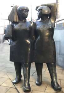 Lori White therapy is just five minutes away from the famoud two fat ladies statue in Wimbledon.